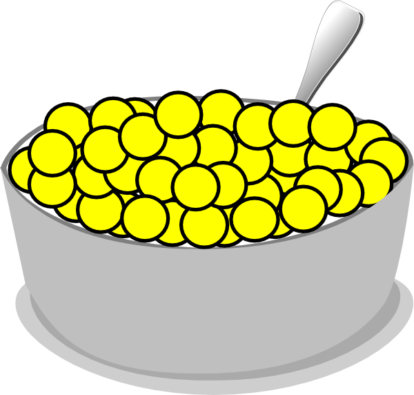 Cereal clipart yellow. Bowl of clip art