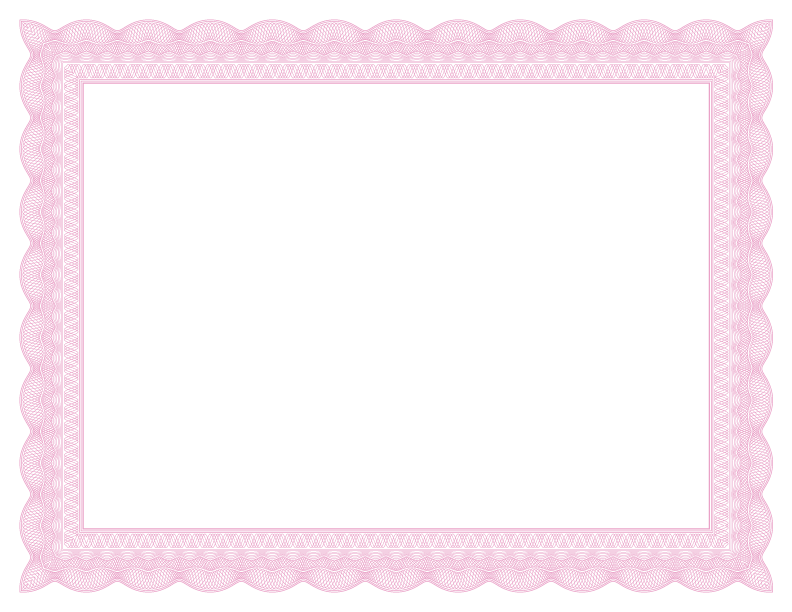 Certificate border png. Lace formal borders pink