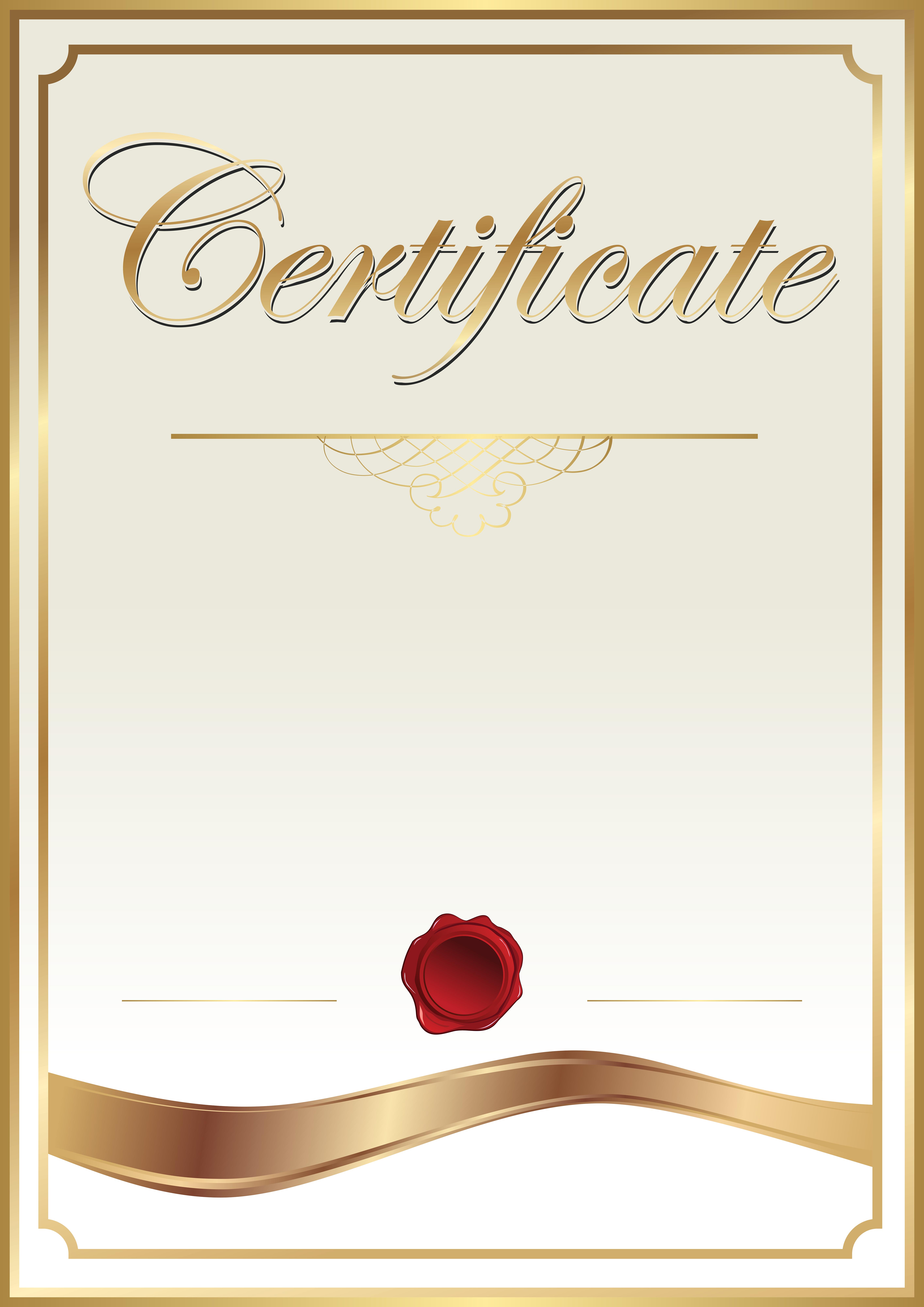 Template clip art png. Certificate clipart
