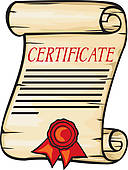 Certificate clipart. Panda free images