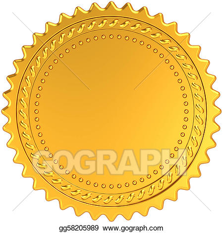 Award clipart diploma. Drawing golden medal blank