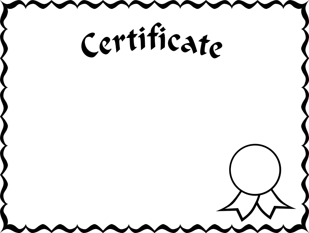 Certificate clipart black and white. Free border download clip