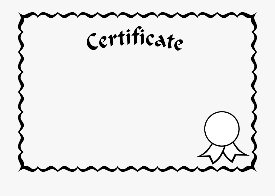 Certificate clipart black and white. Frame clip art free