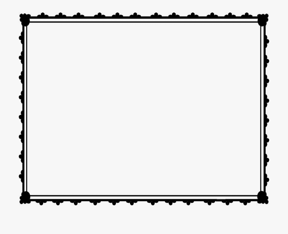 Templates border png . Certificate clipart black and white