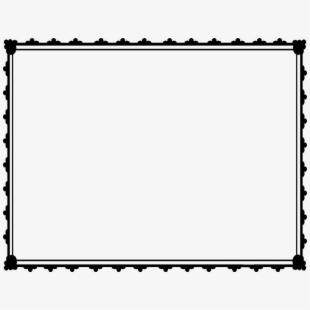 Free border cliparts silhouettes. Certificate clipart borders