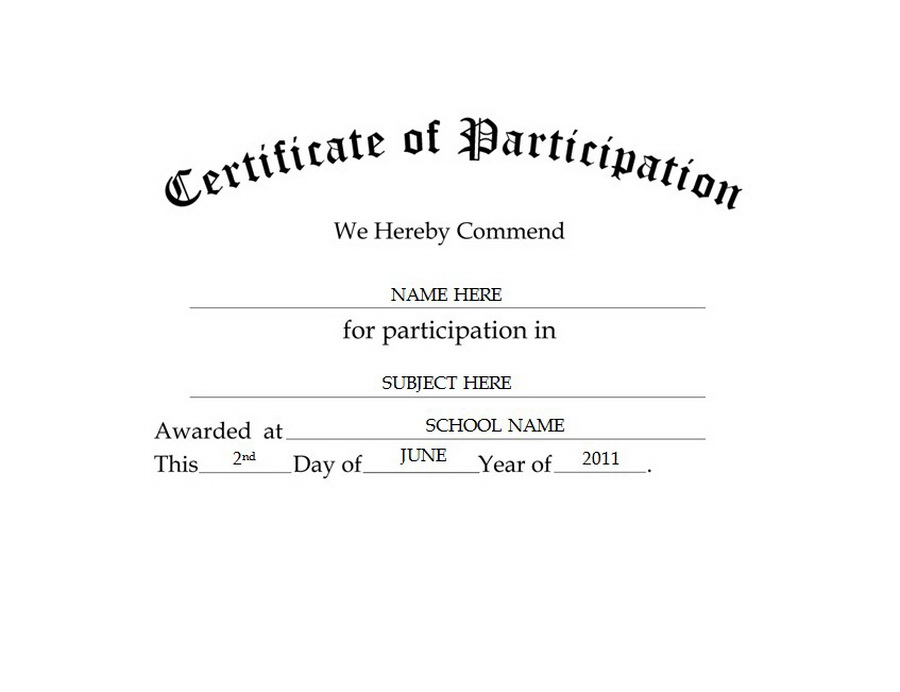 Of participation free templates. Certificate clipart certificate recognition