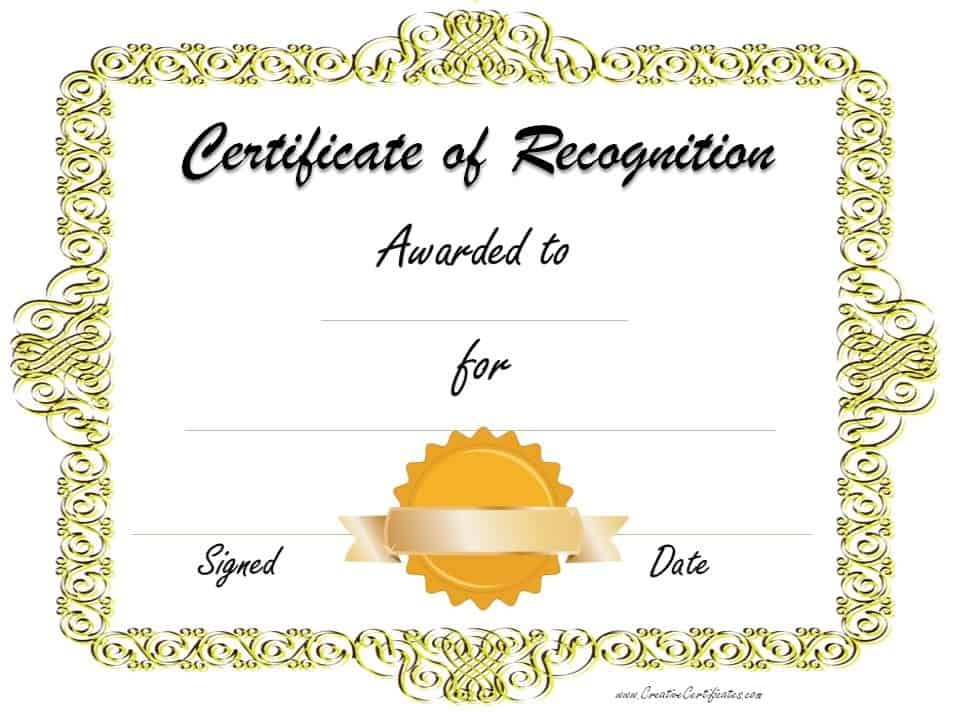 Certificate clipart certificate recognition. Free of template customize