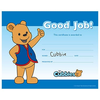 Certificate clipart certificate recognition. Awana cubbies