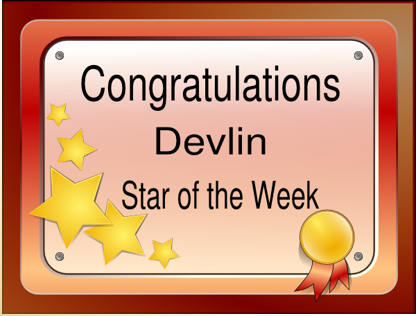 Of the week clip. Certificate clipart certificate star