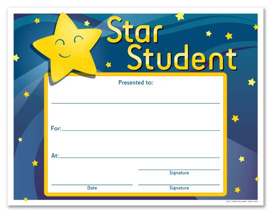 Certificate clipart certificate star. Award template student pertaminico