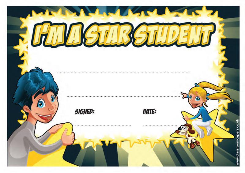 Certificate clipart certificate star. School i m a