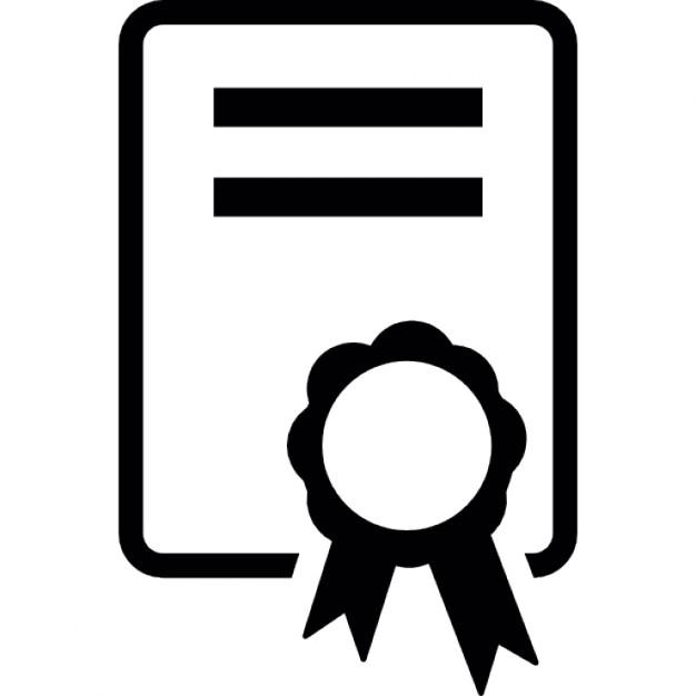 Certificate certificate symbol