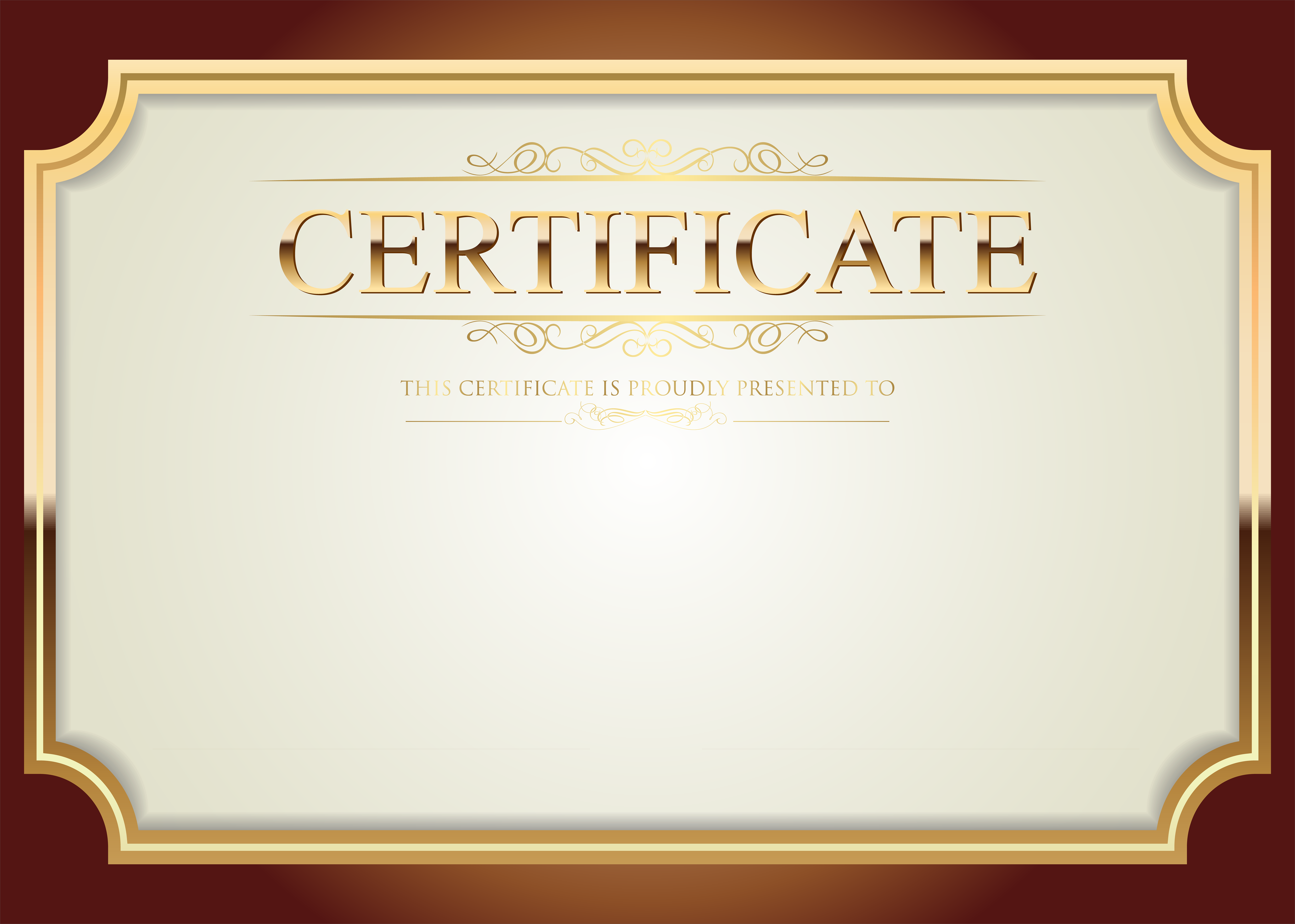 Certificate clipart certification. Template png clip art