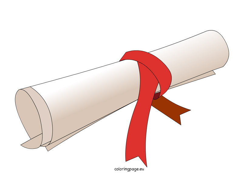 Diploma clipart dipolma.  collection of rolled