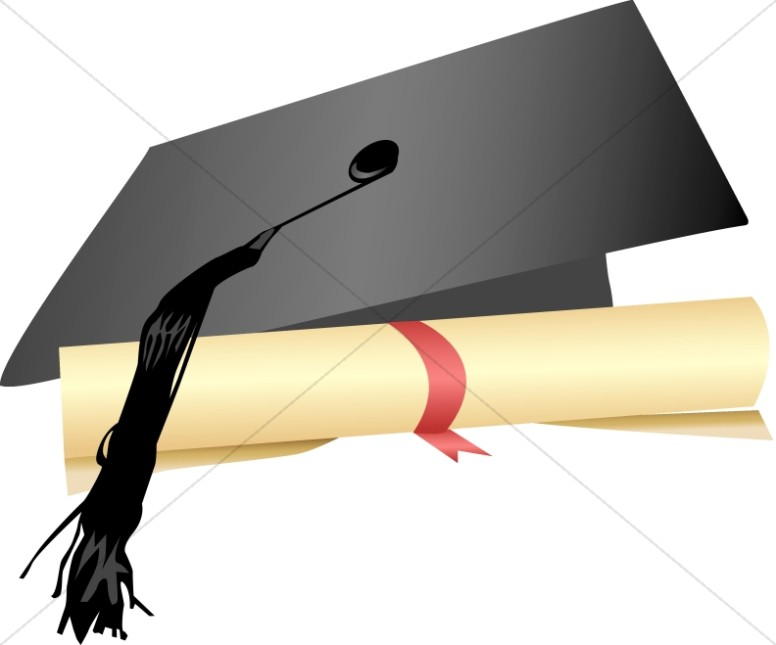 Certificate clipart graduation. Christian images sharefaith cap