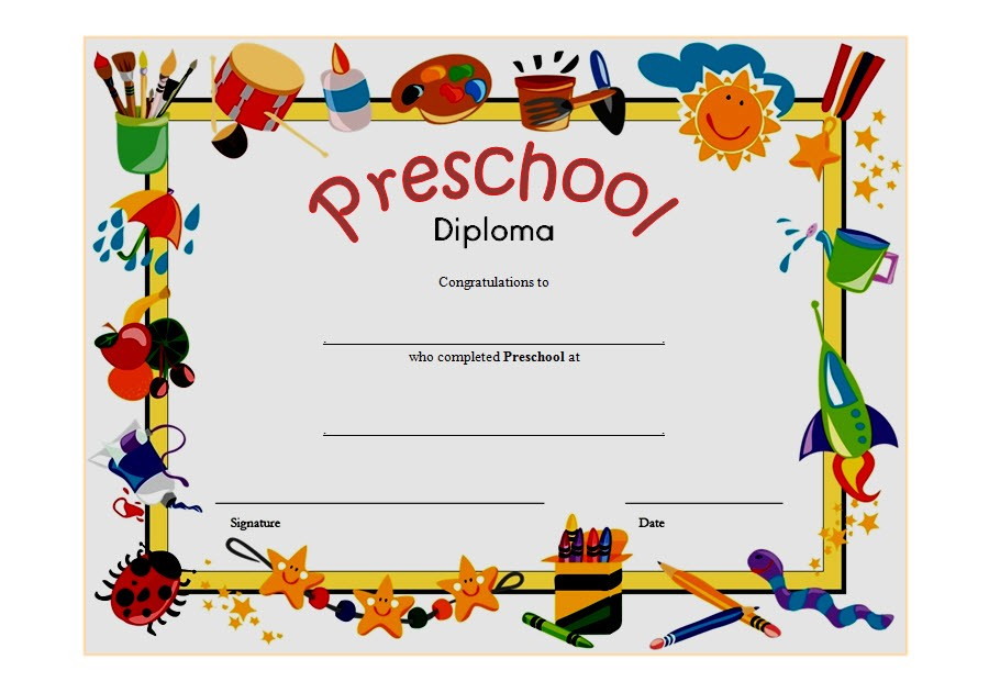 Certificate clipart graduation. Nursery incep imagine ex