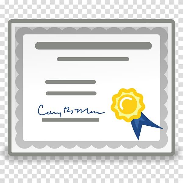 Certificate clipart logo. Public key gnome authority