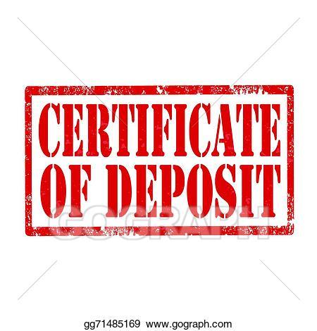 Certificate clipart logo. Vector illustration of deposit