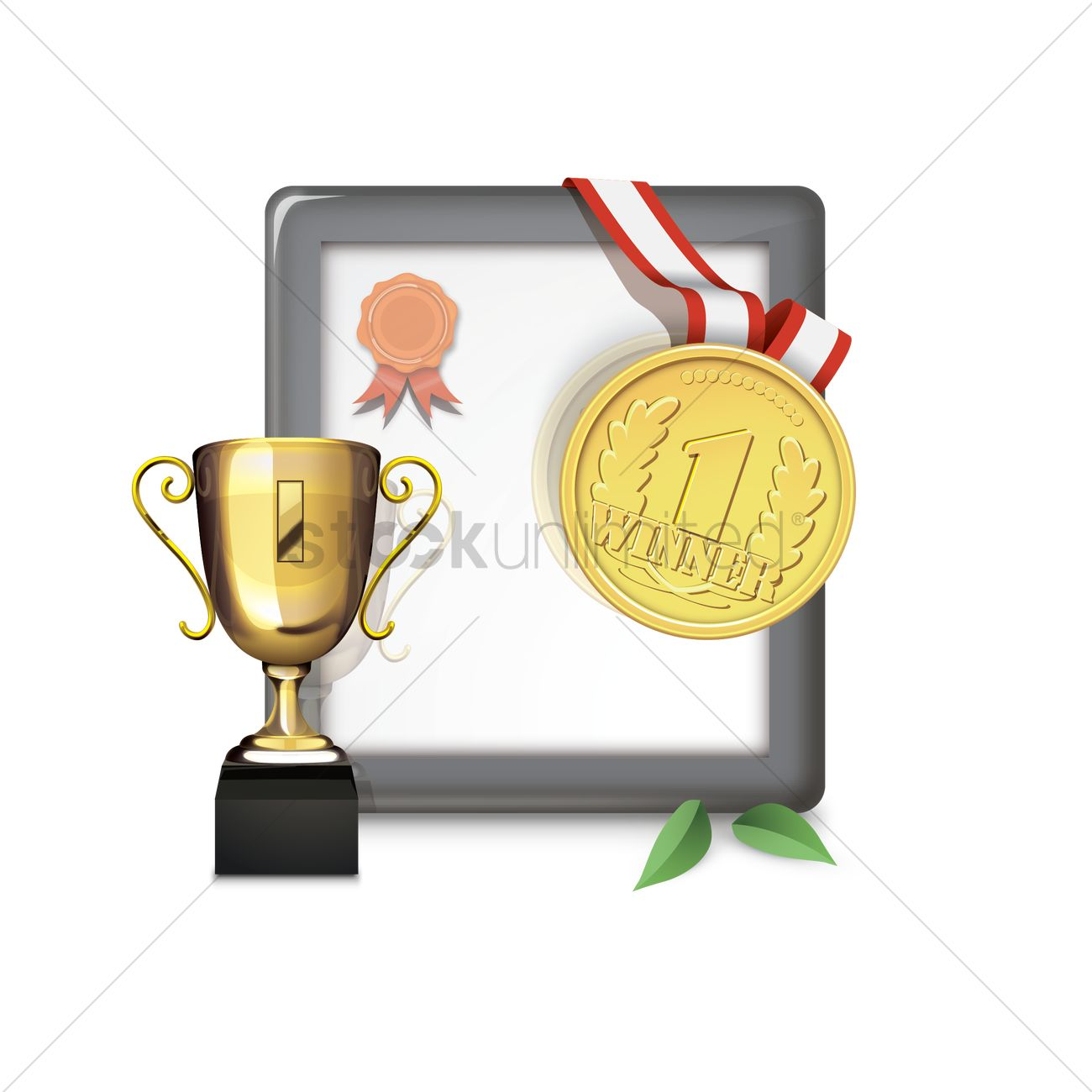 Medal and station . Certificate clipart logo