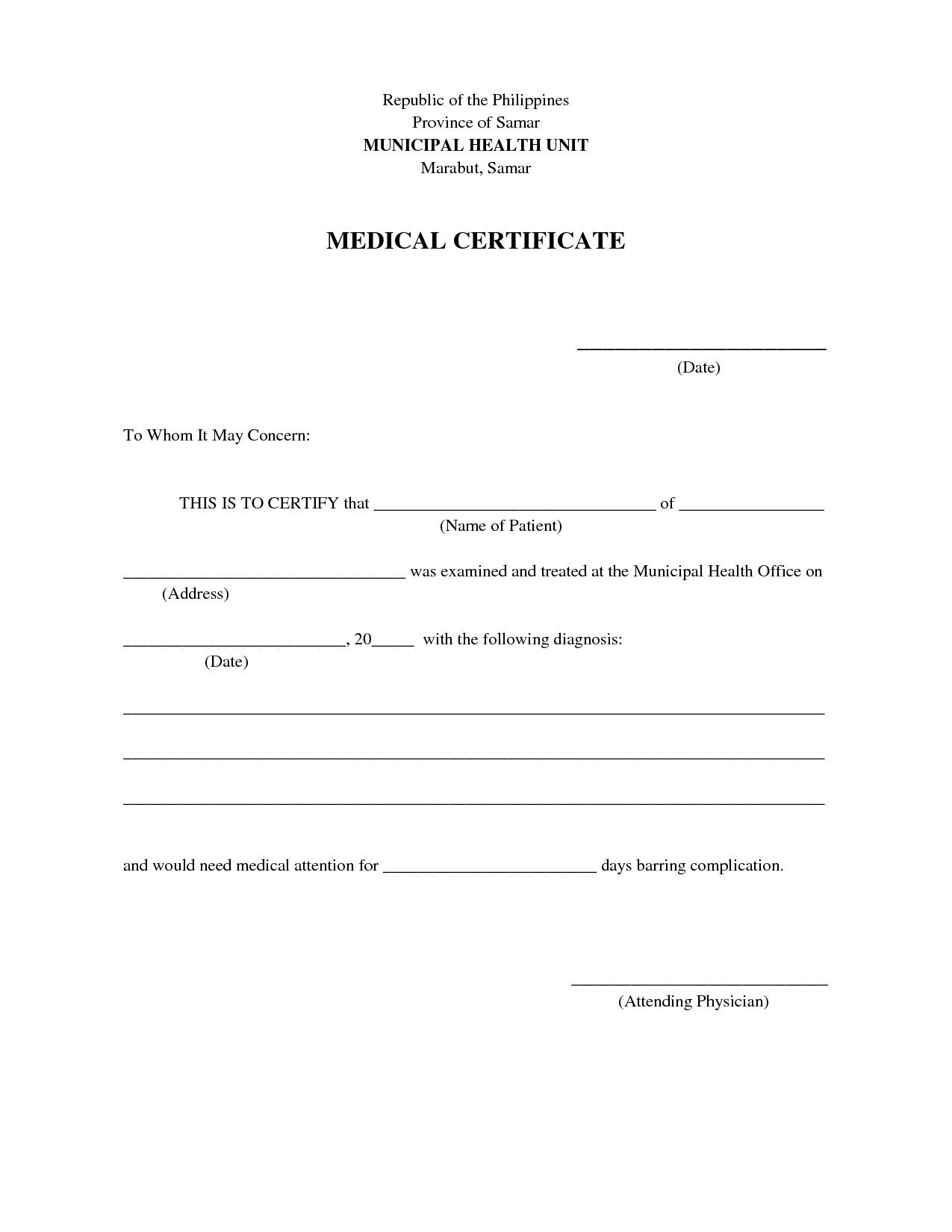 New for employment sample. Certificate clipart medical certificate