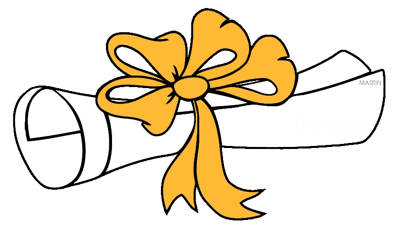 Diploma clipart rolled. Cliparts throughout graduation certificate