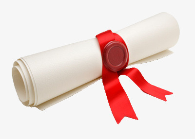 Diploma clipart rolled. Roll certificate honor real