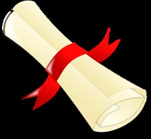Graduation clipart paper. Rolled diploma clip art