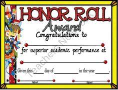 Certificate clipart school certificate. Honor roll certificates for