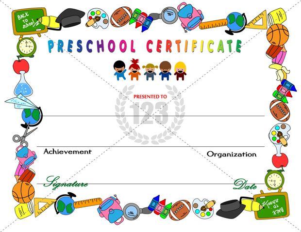 Certificate clipart school certificate. Amazing preschool certificates for