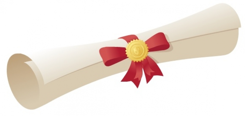 collection of graduation. Certificate clipart scroll