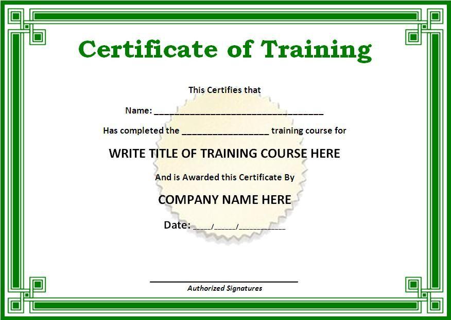 Word template incep imagine. Certificate clipart training certificate
