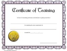 A printable to be. Certificate clipart training certificate