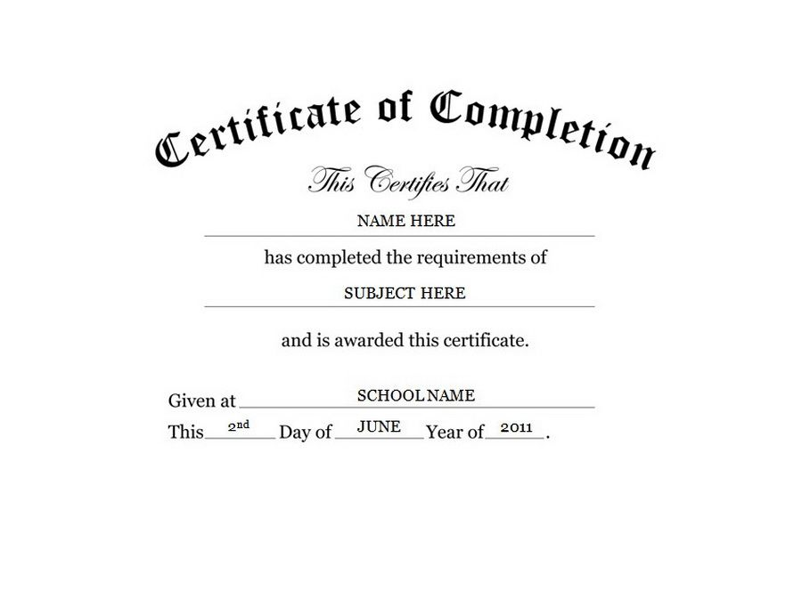Of completion free templates. Certificate clipart training certificate
