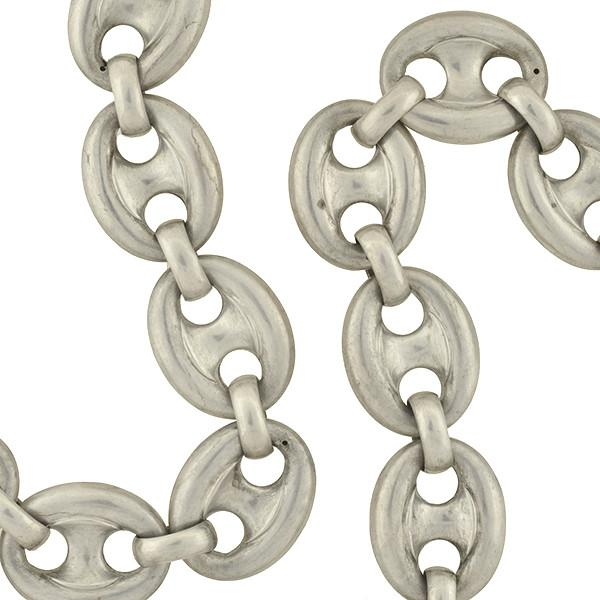 Victorian sterling silver mariner. Chain clipart anchor chain
