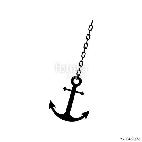 Chain clipart anchor chain. Ship or boat flat