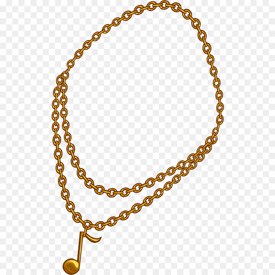 Gold necklace transparent clip. Chain clipart animated