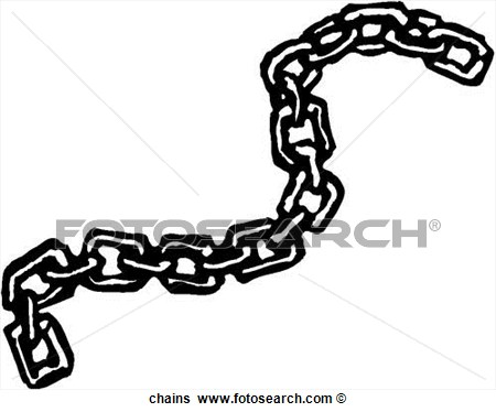 Chain clipart black and white. Chains art parts clip