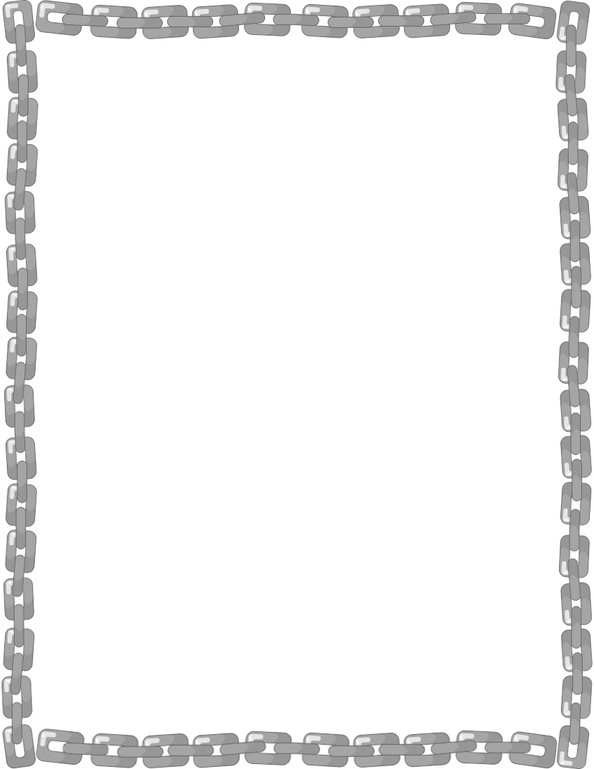 Chain clipart border. Frame page fonts borders