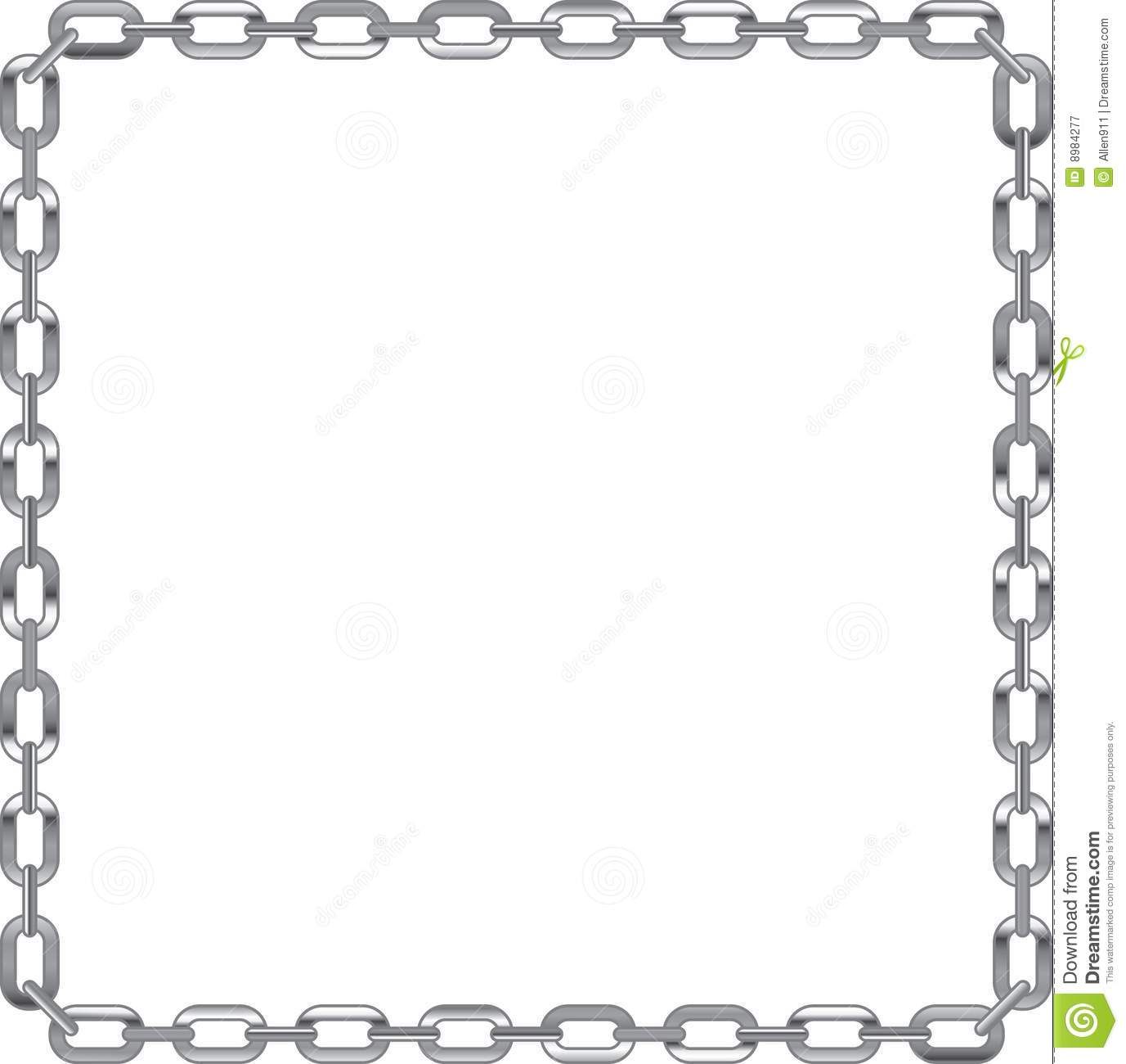 Link . Chain clipart border