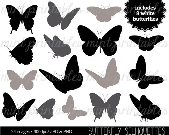 Chain clipart butterfly. Silhouette clip art