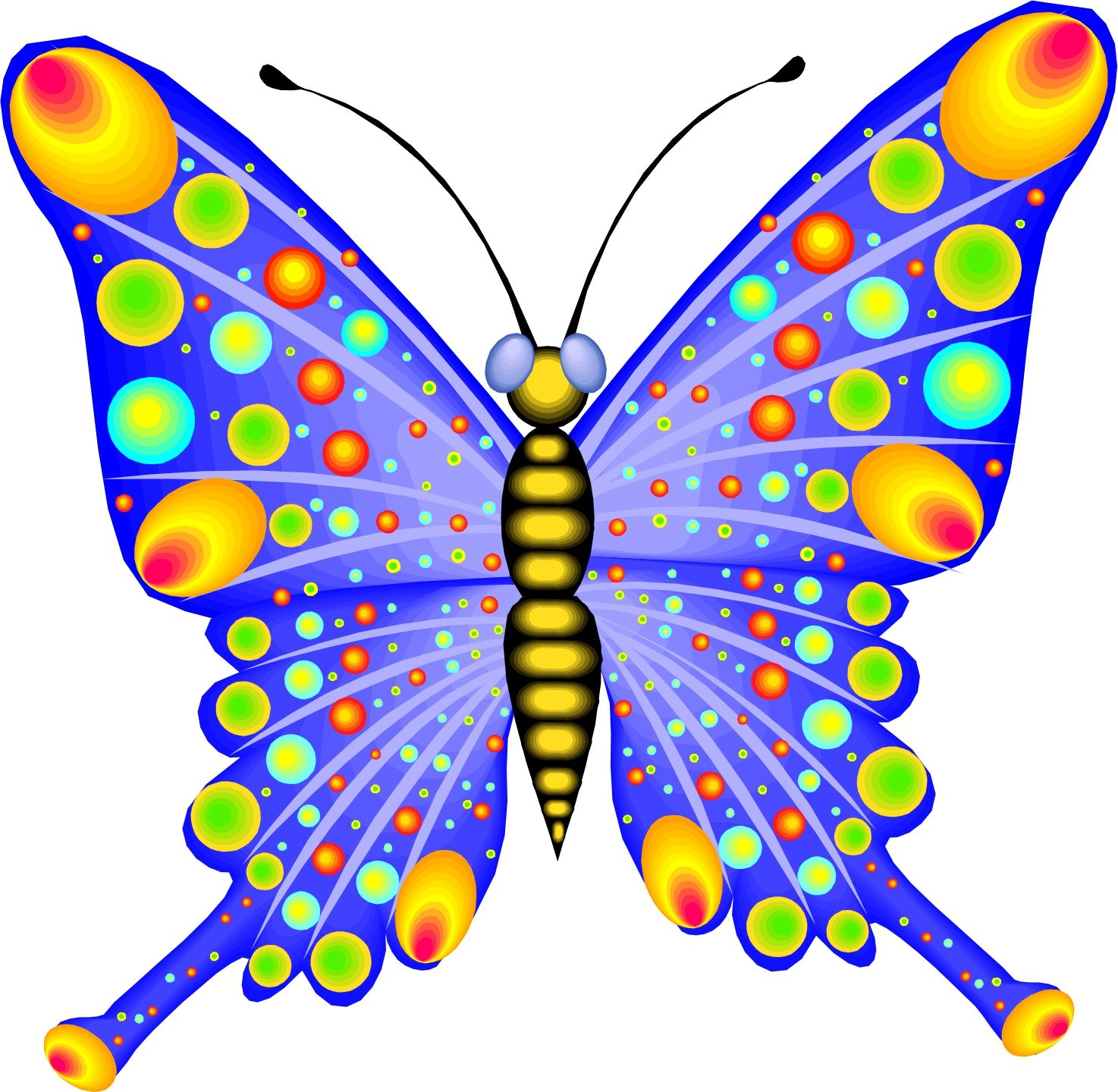Cartoon pictures of butterflies. Chain clipart butterfly