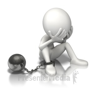 Attach the debt ball. Chain clipart chained