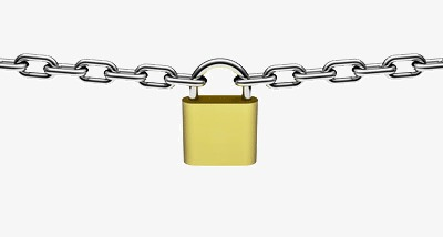 Chain clipart chained. Firm wishing lock metal