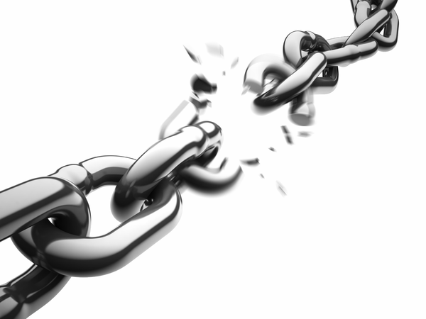 Chain clipart chained. Broken shackles drawing and