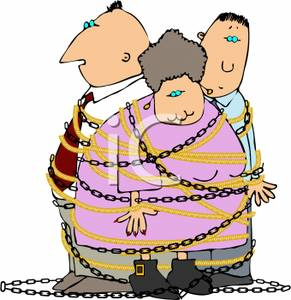Chain clipart chained. A group of people