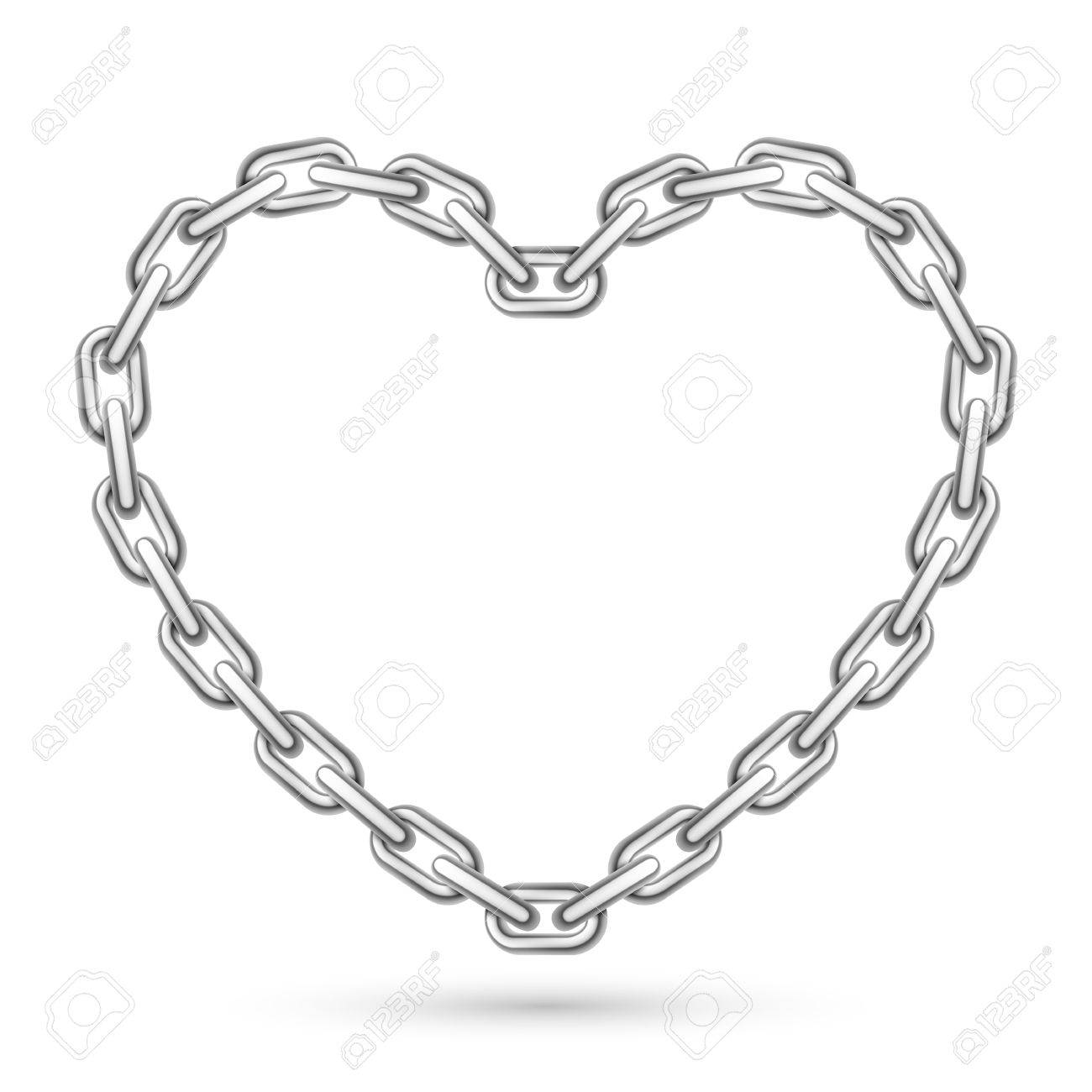 Heart drawing at getdrawings. Chain clipart chained