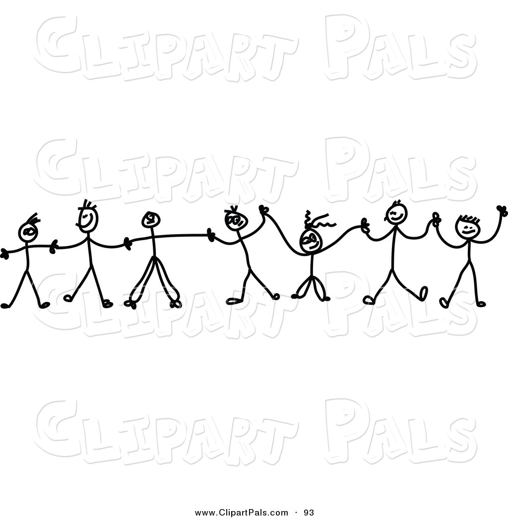 collection of children. Chain clipart child
