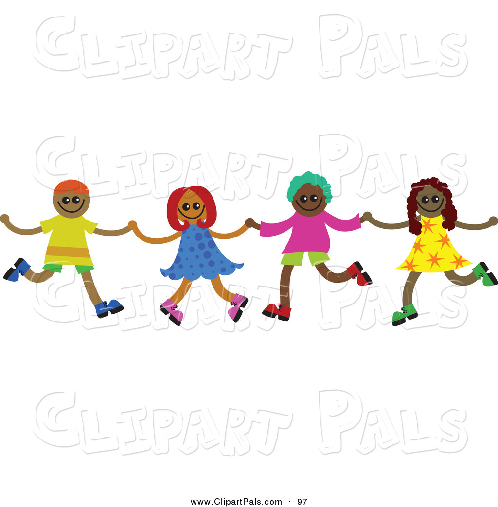 Friends holding hands images. Chain clipart child