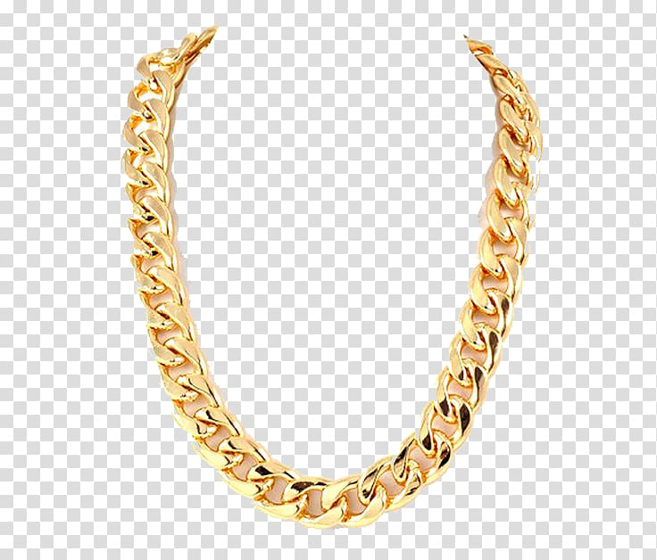 Chain clipart colored. Gold necklace thug life
