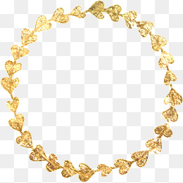Gold color png vectors. Chain clipart colored